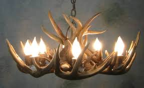 Diy Antler Chandelier Round Whitetail Deer Antler Chandelier