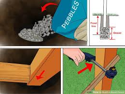 How To Build Backyard Fence How To Build A Wood Fence With Pictures Wikihow