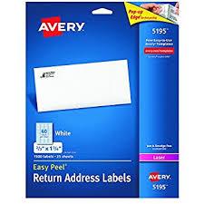 avery easy peel return address labels for inkjet