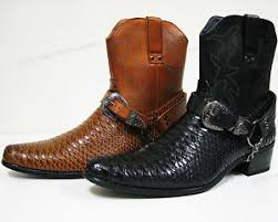s boots buckle s cowboy boots snake skin print zippper buckle harness