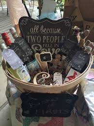 bridal shower wine basket wedding gift wine