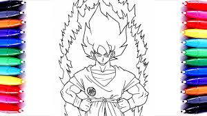 super saiyan goku coloring pages learn color for kids how to