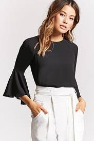 white bell sleeve blouse womens bell sleeves top