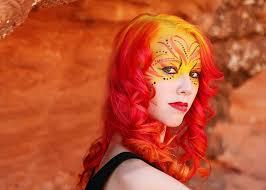 Phoenix Halloween Costume Phoenix Makeup U0026 Hair Fantasy U0026 Halloween Airbrush Makeup