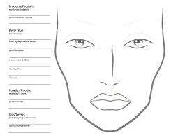 Blank Body Map Template by Becoming A Makeup Artist Free Blank Mac Makeup Chart