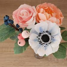 paper flower bouquet wedding paper flower bouquet with berries customizable colors