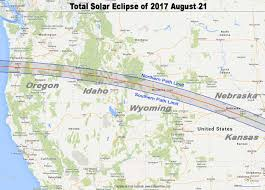 Map Of The Western Hemisphere Total Eclipse Of The Sun August 21 2017