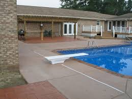 a good example of stamped concrete implementation areound a pool