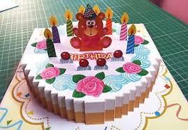 how to make handmade pop up birthday cards 3d pop up birthday greeting card handmade folding 3 d gift cake6