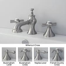 french country widespread satin nickel bathroom faucet free