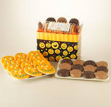 basketball halloween basket halloween cookies and candy gift basket halloween treats