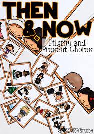 thanksgiving then and now pilgrim children chores mrs jones
