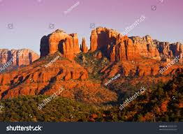 view cathedral rock sedona arizona towering stock photo 53795737