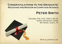 graduation announcements samples