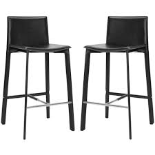 Leather Bar Chair Safavieh Mitchell Adjustable Height Stainless Steel Bar Stool