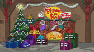 image a very perry christmas main menu png phineas and ferb