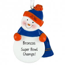 denver broncos ornaments gifts ornaments for you