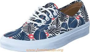 blue patterned shoes vans ua authentic classic white french blue men s trainers sport