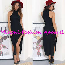 2017 straight n u0027 narrow maxi dress women casual dresses long black