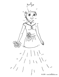 dot coloring pages princess dot to dot game coloring pages hellokids com