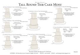 cake tiers tier cake menu michael angelo s bakery
