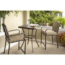 Patio High Chairs Hton Bay Castle Rock 3 Patio High Bistro Set With Toffee