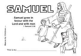 Manna For Children Samuel Coloring Pages