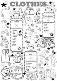 clothes english for children pinterest clothes english and