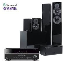 home theater receiver with bluetooth yamaha rx v381 u0026 sherwood concerto 5 1 home theatre speaker and
