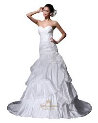 taffeta wedding dress with floral appliques