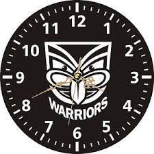 wall clocks nz warriors nrl rugby league sports play team