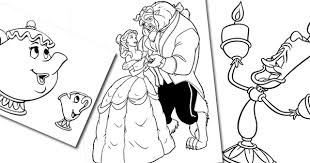 beauty beast coloring pages disney coloring book
