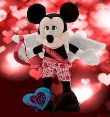 mickey mouse s day new disney s day mickey mouse cupid stuffed plush ebay