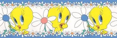 amazon looney tunes tweety bird blues wallpaper border