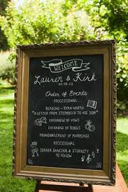 Wedding Program Chalkboard Australian Wedding With A Heart Touching Story Touching Stories