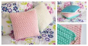 Crochet Home Decor Patterns Free Pillow Cover Crochet Pattern For Home Decorating