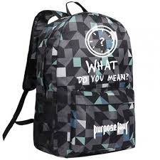 what does pattern mean justin bieber purpose tour what do you mean blue pattern backpack