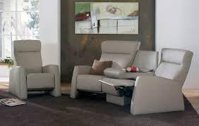 canap himolla canapé classique en cuir 3 places inclinable tangram relax