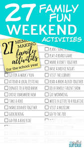 Things To Do With Your Family On The 27 Memory Activities To Do With Your During The School