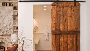 Interior Sliding Barn Door Kit Bathroom Awesome Barn Door For Bathroom Interior Sliding Barn