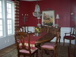 red dining rooms beautiful home dining room with white wall wainscoting decor plus