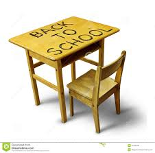 Wooden Student Desk Back To Desk Royalty Free Stock Image Image 33138706