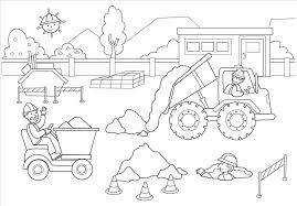 construction equipment coloring pages contegri com