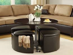 Ottoman Coffee Table Interior Table With Ottomans Underneath Table With Ottomans