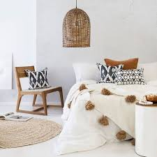 chambre style ethnique chambre ethnique blanc noir marron budget déco style ethnique