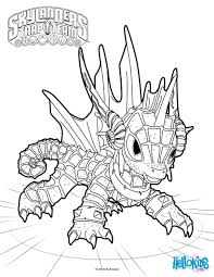 Skylanders Coloring Page Vitlt Com Coloring Pages For High