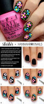 mani monday black multi color floral mani tutorial lulus com