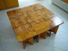 Table Jigsaw Diy Puzzle Coffee U0026 Side Tables Do It Yourself Fun Ideas