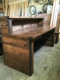 Computer Inside Desk Rustic Office Furniture Desk Modern Rustic Desk A Sustainable