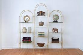Gold Bookcase Bookcase Hollywood Regency Bookshelf Hollywood Regency Bookcase